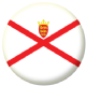 Jersey Island Flag 25mm Flat Back